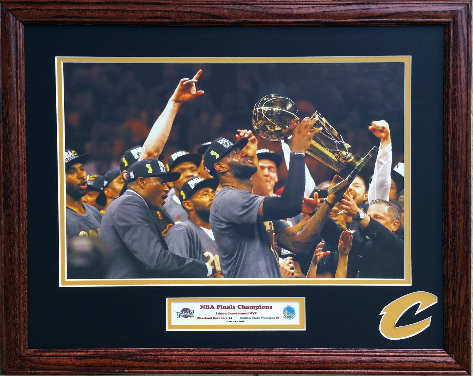 Cleveland cavaliers memorabilia picture this framing co cleveland cavaliers 2016 nba finals champions 16 x 20 inches jeuxipadfo Image collections