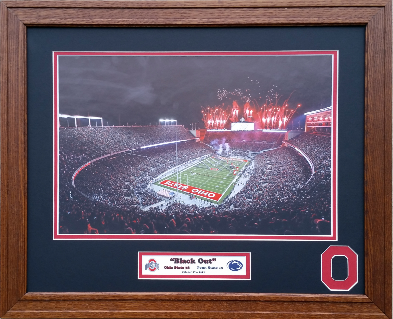 bainbridge x mats penn buckeyes inches state vs board game co mat picture ohio blackout framing this